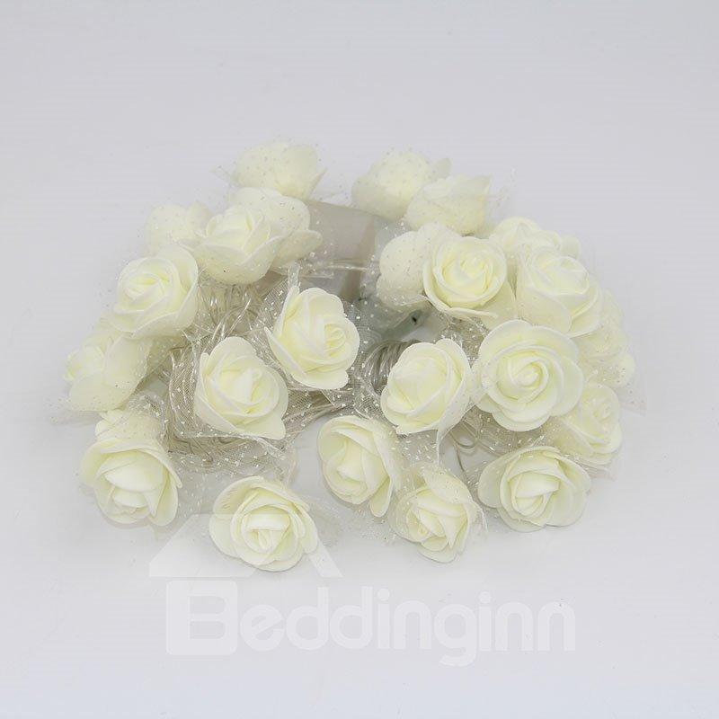 Rose Lace Romantic Wedding Decoration Plastic LED Lights
