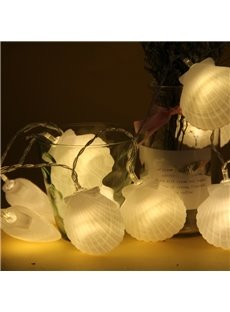 Seashell Bedroom Decoration Battery Plastic Holiday LED Light