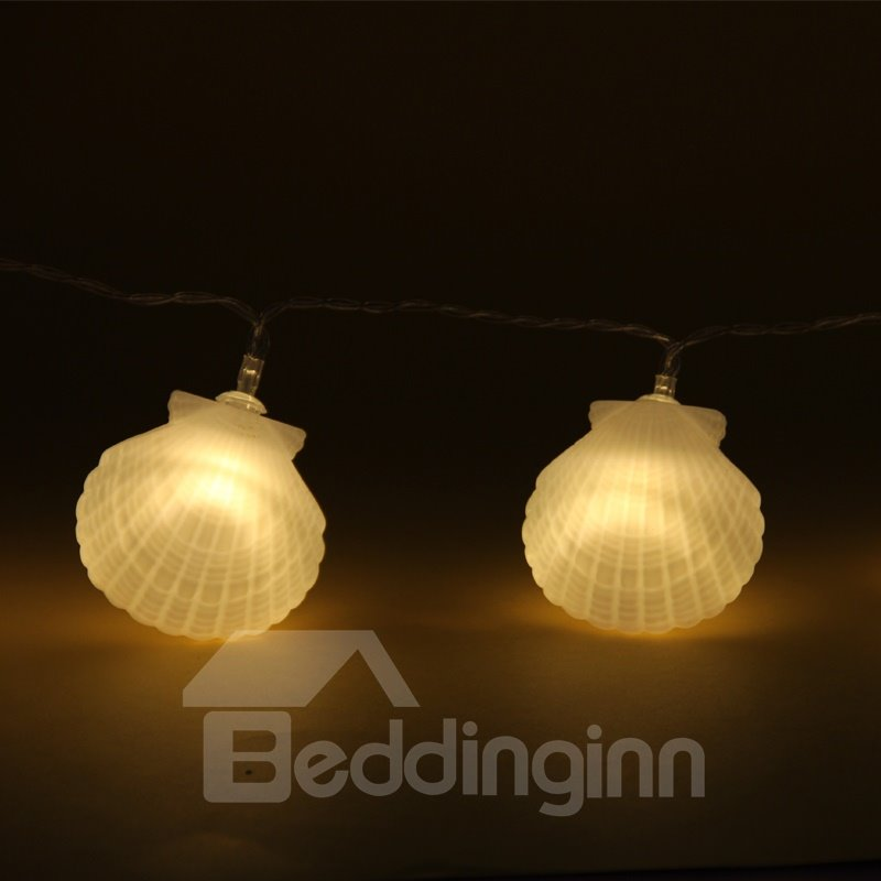 Seashell Bedroom Decoration Battery Plastic Holiday LED Light