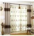 Warm Color and Dust-Proof Polyester Solid Grommet Top Curtain Drapes