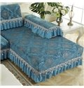 European Luxury Style Chenille Floral Pattern Sofa Covers