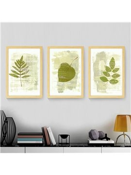 Simple Leaf Pattern 2 Size Glass Waterproof Wall Prints