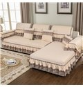 Polyester Country Style Anti-Slip Prevent Stains Sofa Covers