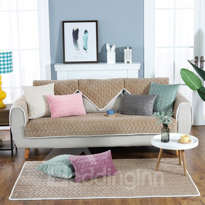 Polyester Anti-Slip Modern Style Prevent Stains Sofa Covers