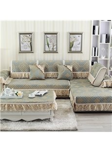 Anti-Slip Simple Style Soft All Seasons Polyester Sofa Covers