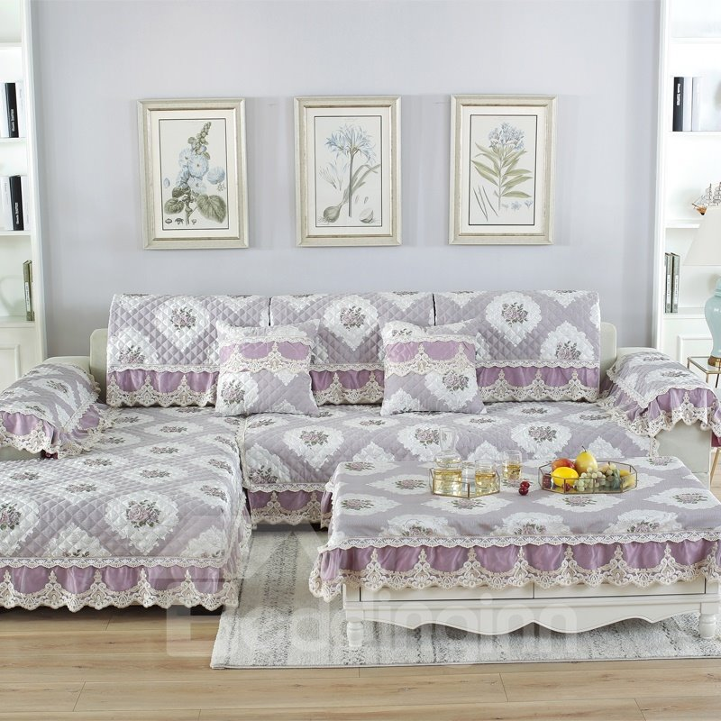 European Style Prevent Stains Wearproof Polyester Sofa Covers