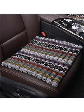 Mixed Color Textile Linen Fabric Single Car Seat Protection