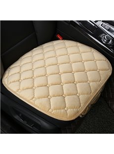 Pure Color Diamond Lattice Pattern Suede Universal Single Seat