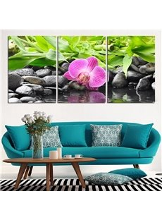 11.8*17.7in*3 Pieces River And Stone Waterproof and Eco-friendly Hanging Canvas Wall Prints