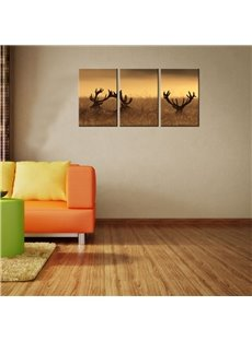 Antler Waterproof and Eco-friendly 11.8*17.7in*3 Pieces Hanging Canvas Wall Prints