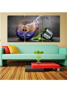 11.8*17.7in*3 Pieces Creative Bulb Hanging Canvas Waterproof and Eco-friendly Wall Prints