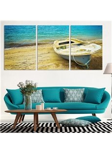 11.8*17.7in*3 Pieces Sea And Ship Hanging Canvas Waterproof and Eco-friendly Wall Prints