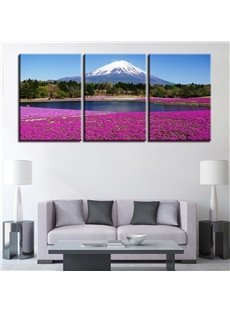 Waterproof and Eco-friendly 11.8*17.7in*3 Pieces Snow Mountain Hanging Canvas Wall Prints