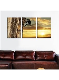 11.8*17.7in*3 Pieces Climbing Man Hanging Canvas Waterproof and Eco-friendly Wall Prints