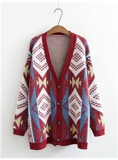 Korean Style Thicken Cardigan Loose Model Polyester Button Coat