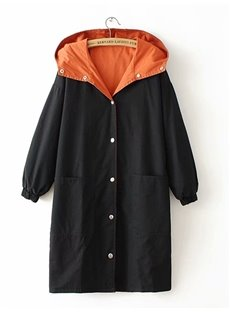 Reversible Korean Style All-Match Long Length Plus Size Coat