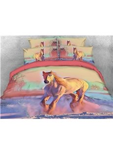 Running_Horse_and_Scenery_Digital_Printing_3D_4Piece_Bedding_SetsDuvet_Covers