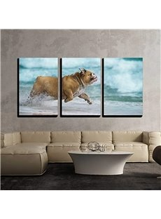 11.8*17.7in*3 Pieces Running Dog Hanging Canvas Waterproof And Eco-friendly Wall Prints