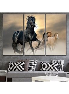 11.8*17.7in*3 Pieces Horse Hanging Canvas Waterproof And Eco-friendly Wall Prints