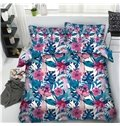 Tiger and Green Leaves Printing Cotton 4-Piece 3D Bedding Sets/Duvet Covers