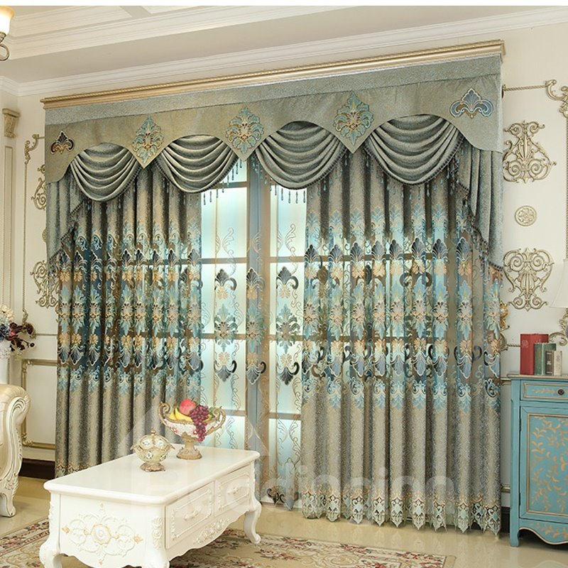 Decorative Polyester Embroidered European Beautiful Curtain Pic