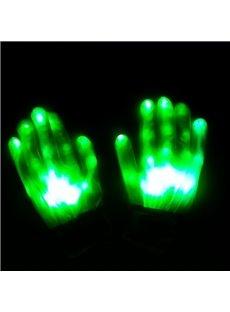 Green Light Magic Rave LED Light Finger Glowing Gloves for Halloween
