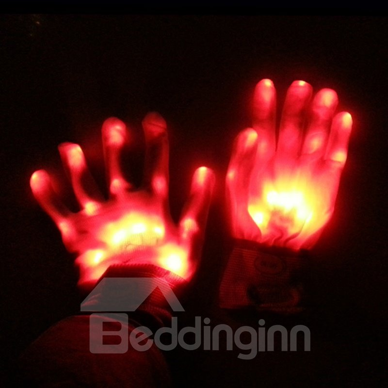 Magic Luminous LED Skeleton Gloves Creative Gifts for Halloween