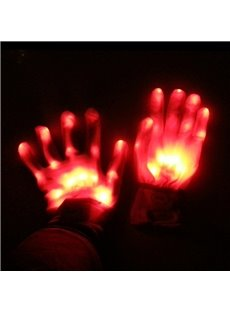 Magic Luminous LED Skeleton Gloves Creative Gifts for Halloween