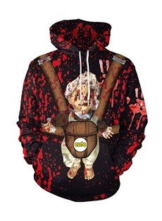 Long Sleeve Loose Model 3D Baby Painted Hoodie