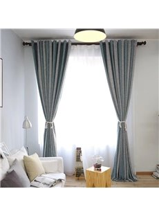 Easy Life Stripe Design Solid Warm Sheer Curtains Grommet Top Three Colors