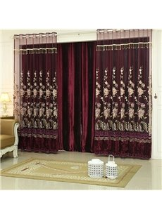 Pure Red Elegant Luxury High Quality Curtains Blackout