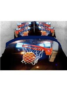 Shoot the Basket Printing Cotton 3D 4-Piece Bedding Sets/Duvet Covers
