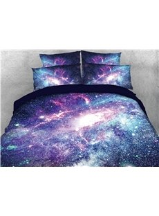 Magic Shining Galaxy Printing Cotton 3D 4-Piece Bedding Sets/Duvet Covers