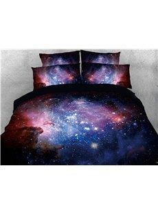 Magic Galaxy and Blinking Stars Printing 3D 4-Piece Bedding Sets/Duvet Covers