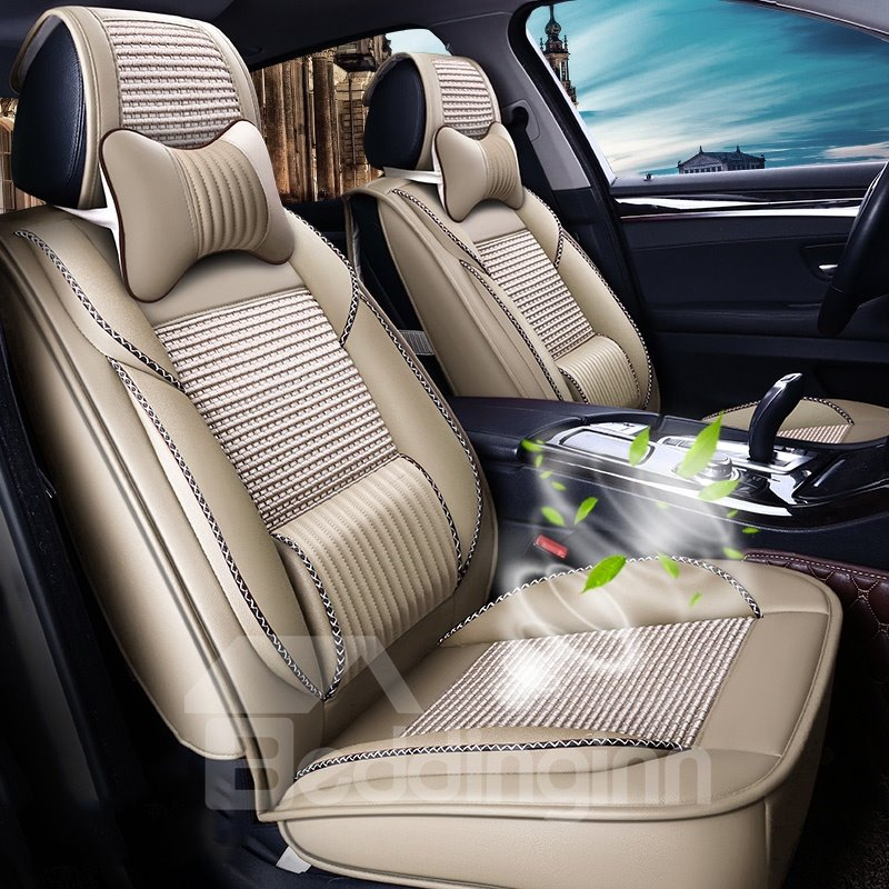 Breathable Plain Skin Seat Cover Pic
