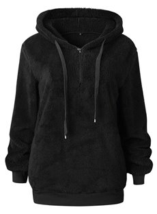 Fashion Zipper Pocket Hooded Pullover Slim Model Hoodie