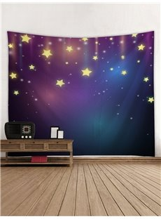 Stars Blue Galaxy 3D Printing Decorative Hanging Wall Tapestry