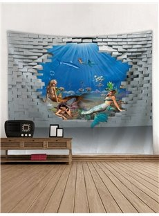 Mermaids and Ocean World 3D Printing Decorative Hanging Wall Tapestry