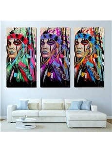 Creative Indian Girl Pattern Hanging Canvas Waterproof Eco-friendly Framed Prints