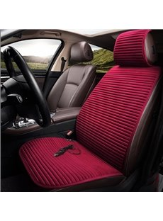 Electrical Heating Flannelette Solid Color Front Single-seat Universal Car Seat Cover