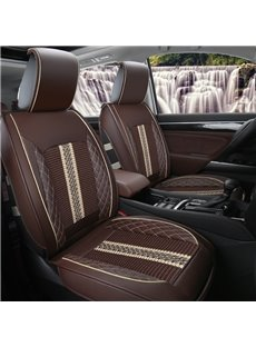 Stripe Knitting Fabric Soft Front Single-seat Universal Car Seat Cover