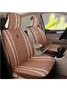Classic Flax Material Front Single-seat Universal Car Seat Cover