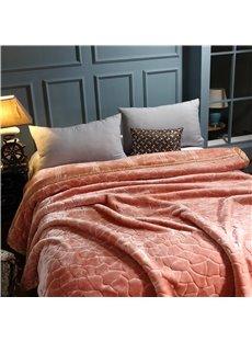 Irregular Geometric Pattern Solid Color Flannel Fleece Bed Blanket
