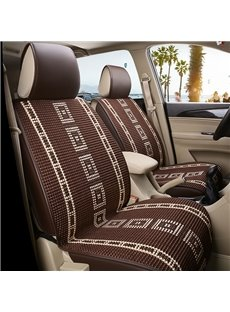 Cool Leather Simple Design Front Single-seat Universal Car Seat Cover