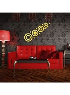 Creative Round Shape Pattern 3D Acrylic TV And Sofa Background Wall Stickers