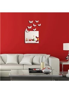 Creative Butterfly Pattern 3D Acrylic TV And Sofa Background Wall Stickers