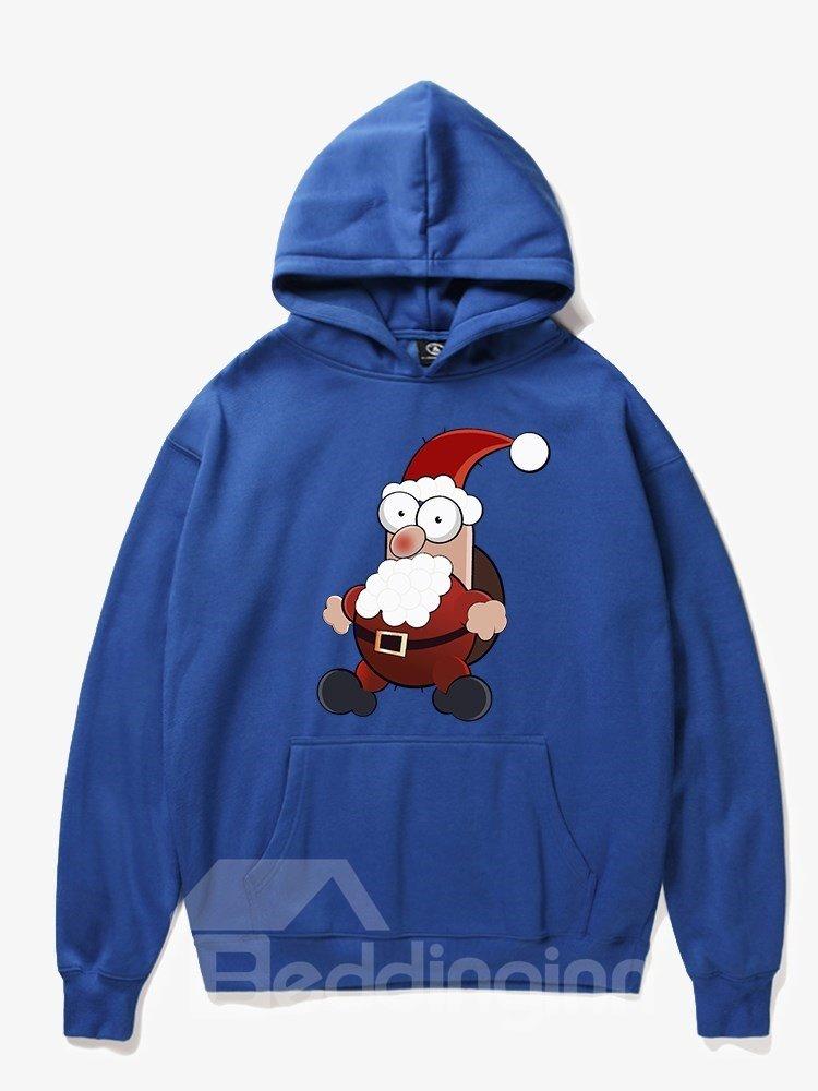 Fleece Loose Model Christmas Vibrant Color 3D Painted Hoodie