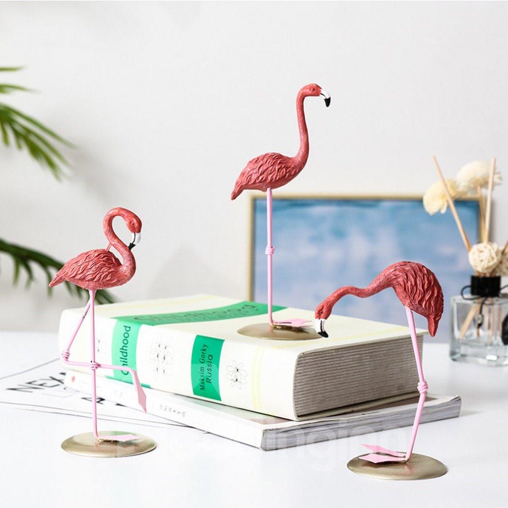 Flamingo Perfect Girl Room Decoration Resin Crafts Bedroom Jewelry Window Display