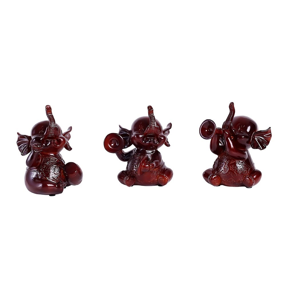 Elephant Handicraft Creative Household Porch Decoration 3 Small Elephant In All