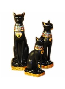 Exotic Egyptian Cat Decorative Handicrafts Good Home Desk Decoration 3 Size